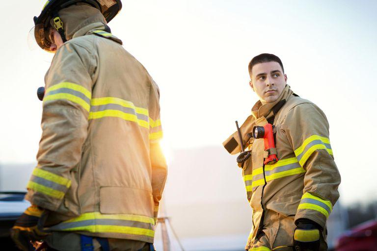 Fireman Gazing Over his Shoulder
