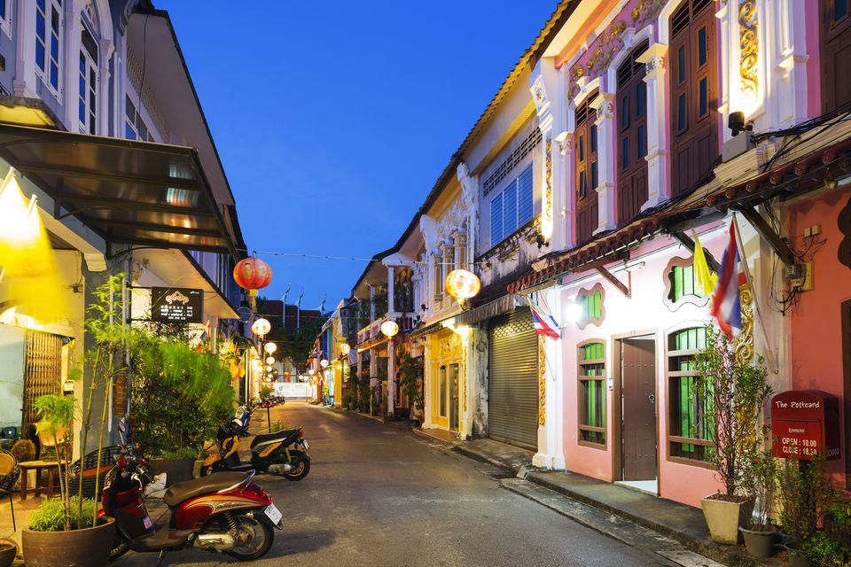 Thailand, Phuket, Old Phuket Town and Sino-Portuguese houses