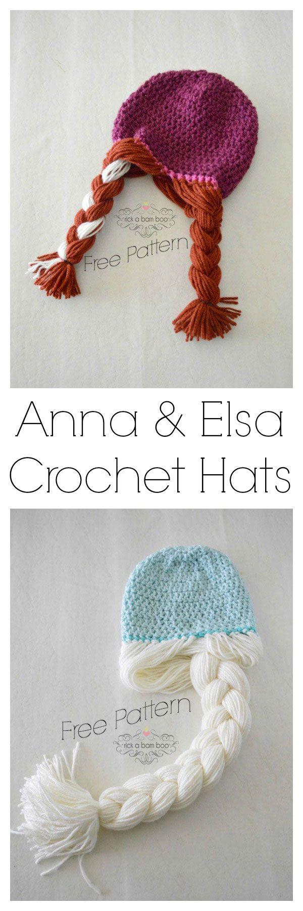Free crochet hat patterns for Frozen