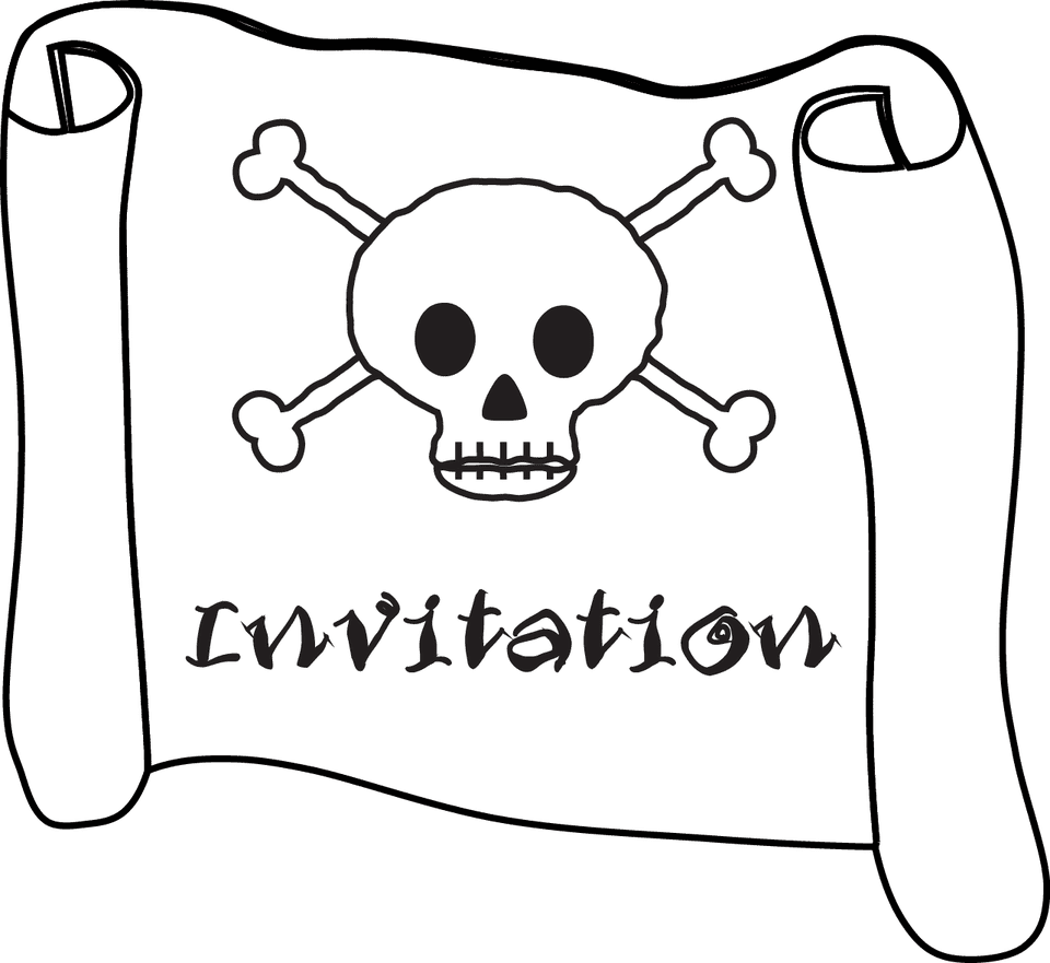 Free Printable Pirate Skull And Crossbones Invitations