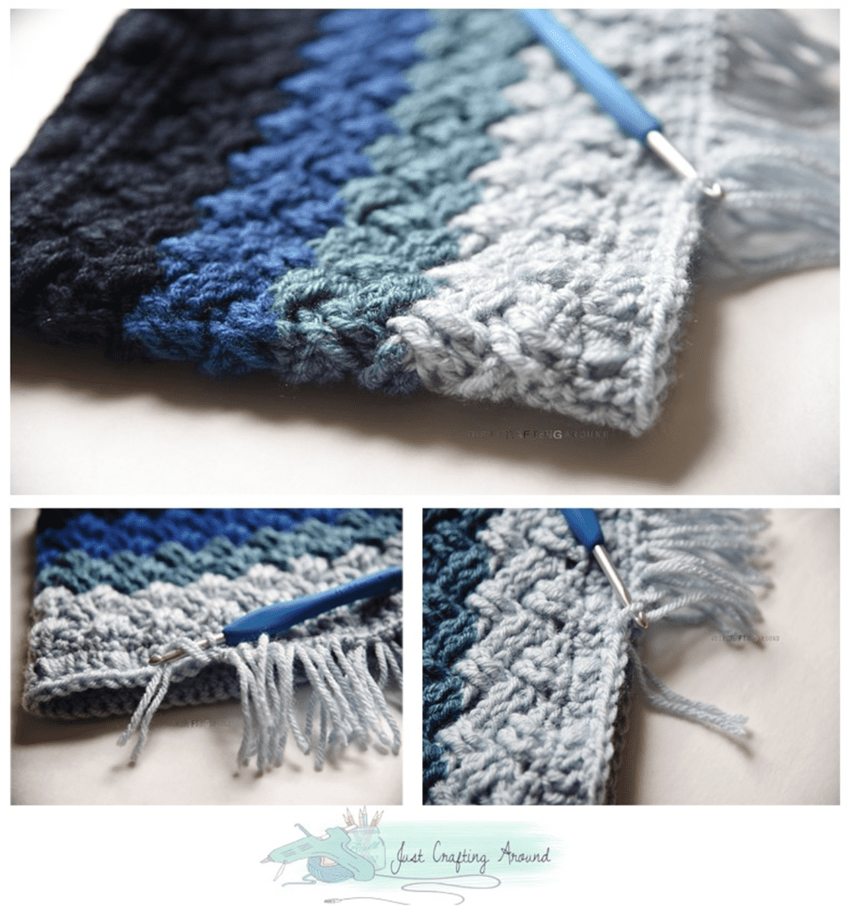 Crochet Cowl Free Pattern with Short Fringe