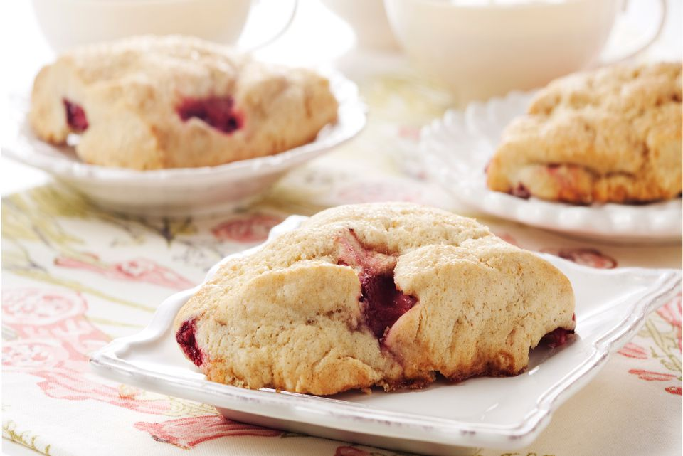 Homemade strawberry scones recipe