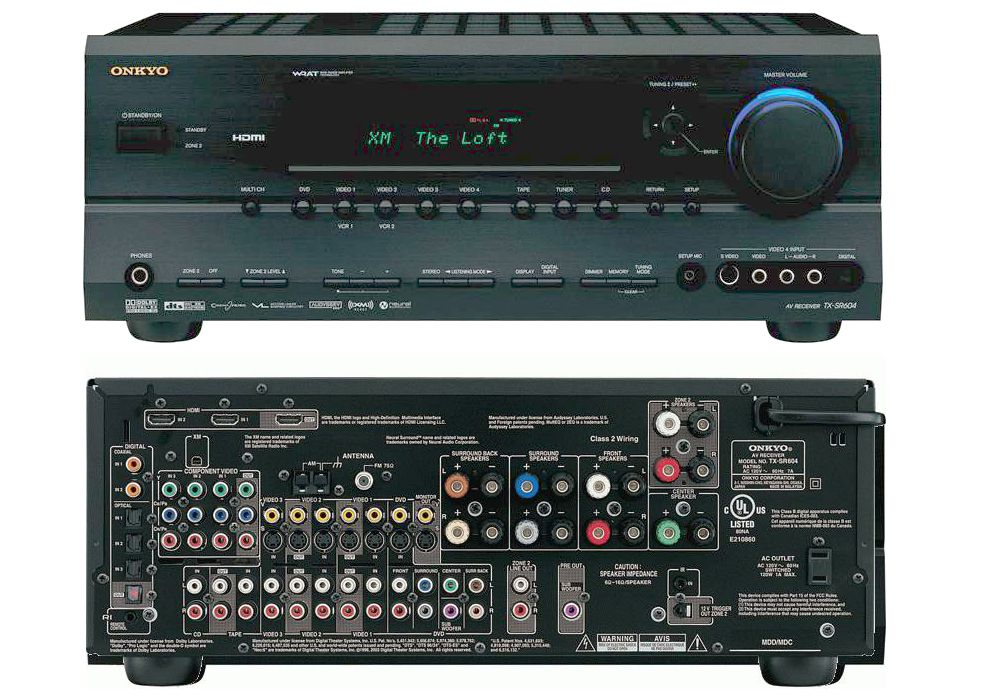 onkyo 809. onkyo tx-sr604 home theater receiver 809