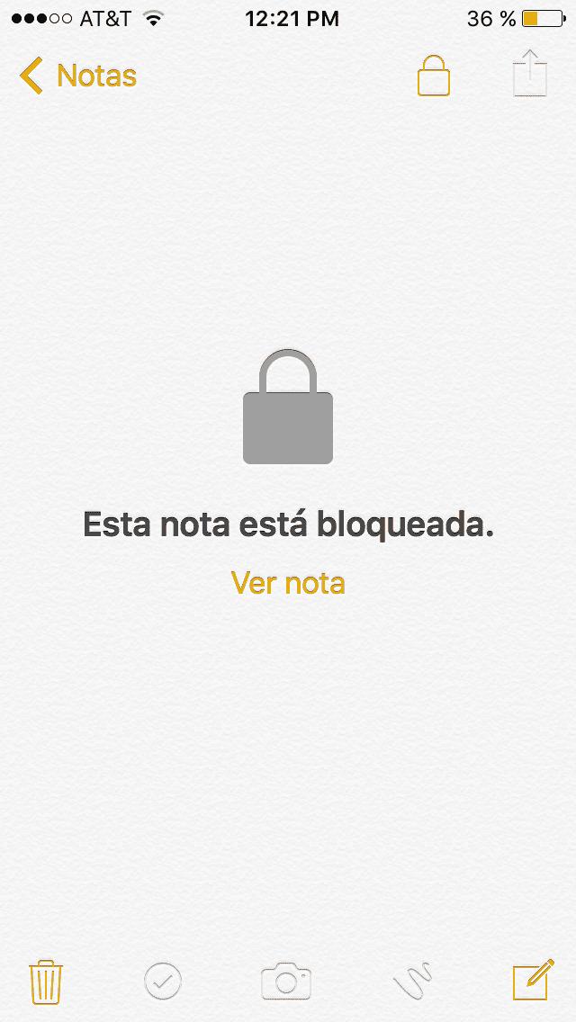 Nota bloqueada