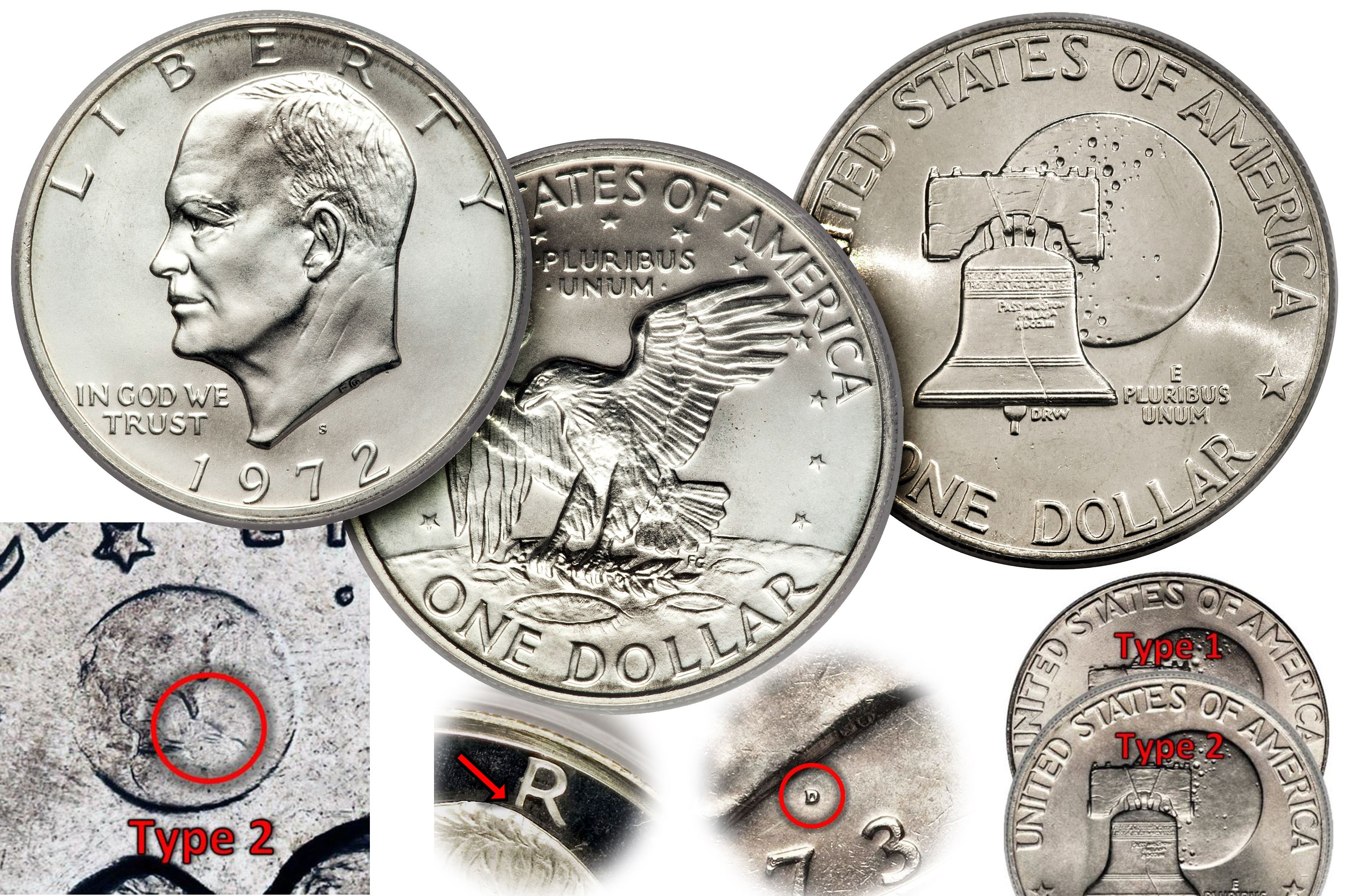Us coin values guide how much is my eisenhower dollar worth xflitez Choice Image