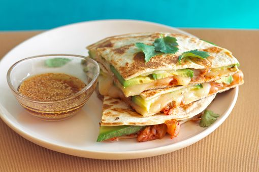 Plate of quesadillas