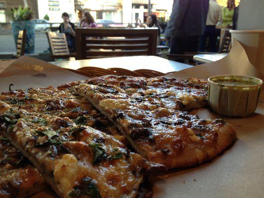 Cheeseboard Pizza closeup