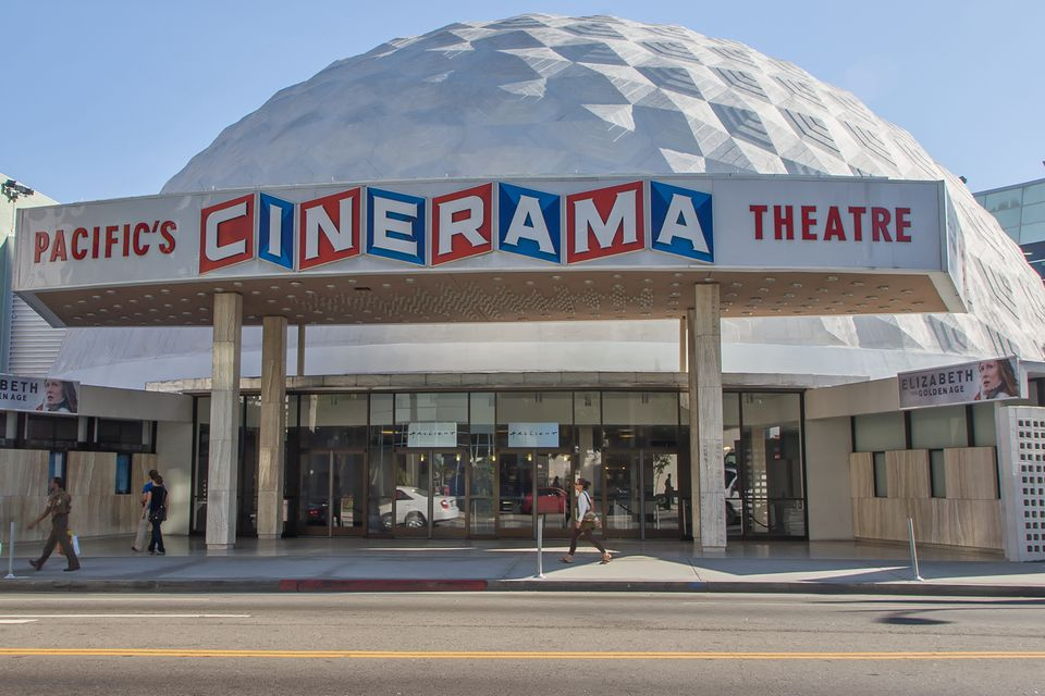The Cinerama Theatre in Hollywood