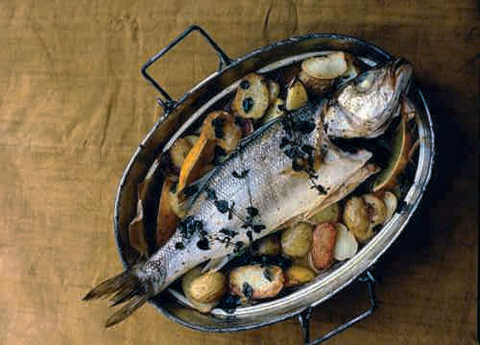 Sea Bass and Lemon Potatoes