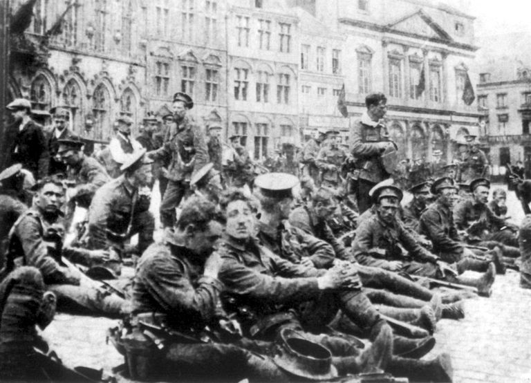 British forces before the Battle of Mons