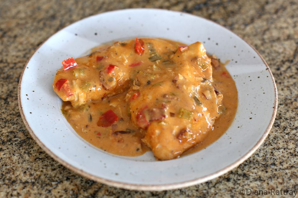 Chicken With Creamy Creole Sauce