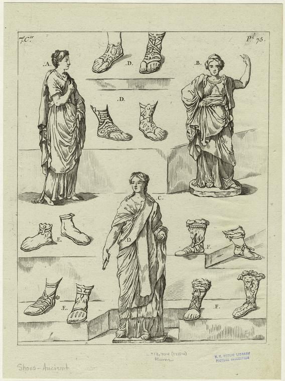 Roman Sandals and Other Footwear