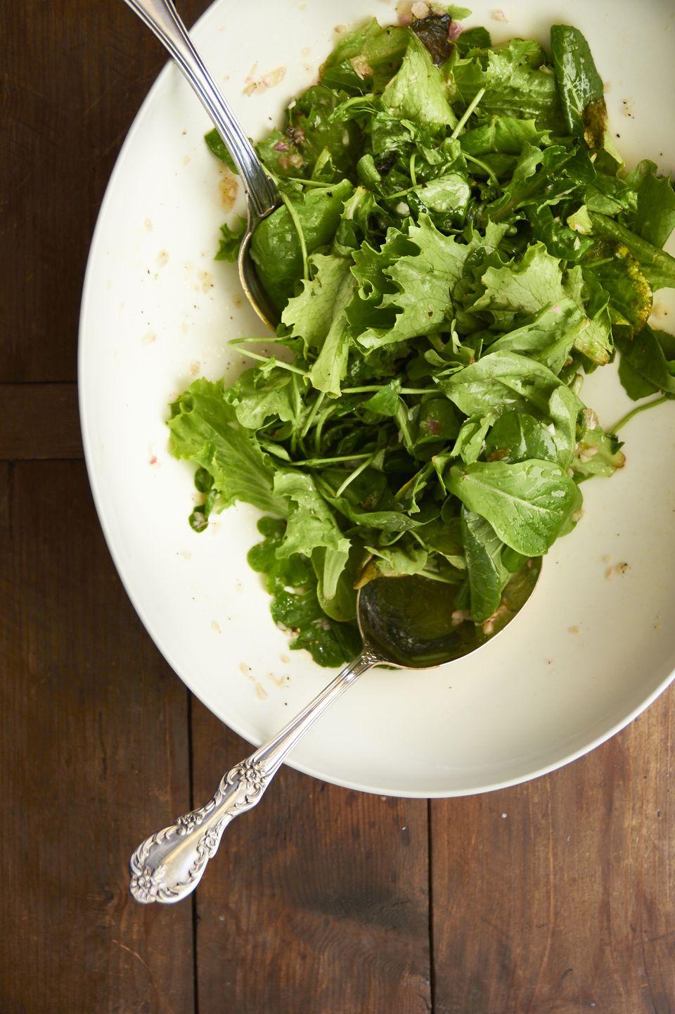 Green Salad with Scallion Mustard Vinaigrette