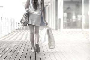 outlet mall shopper.