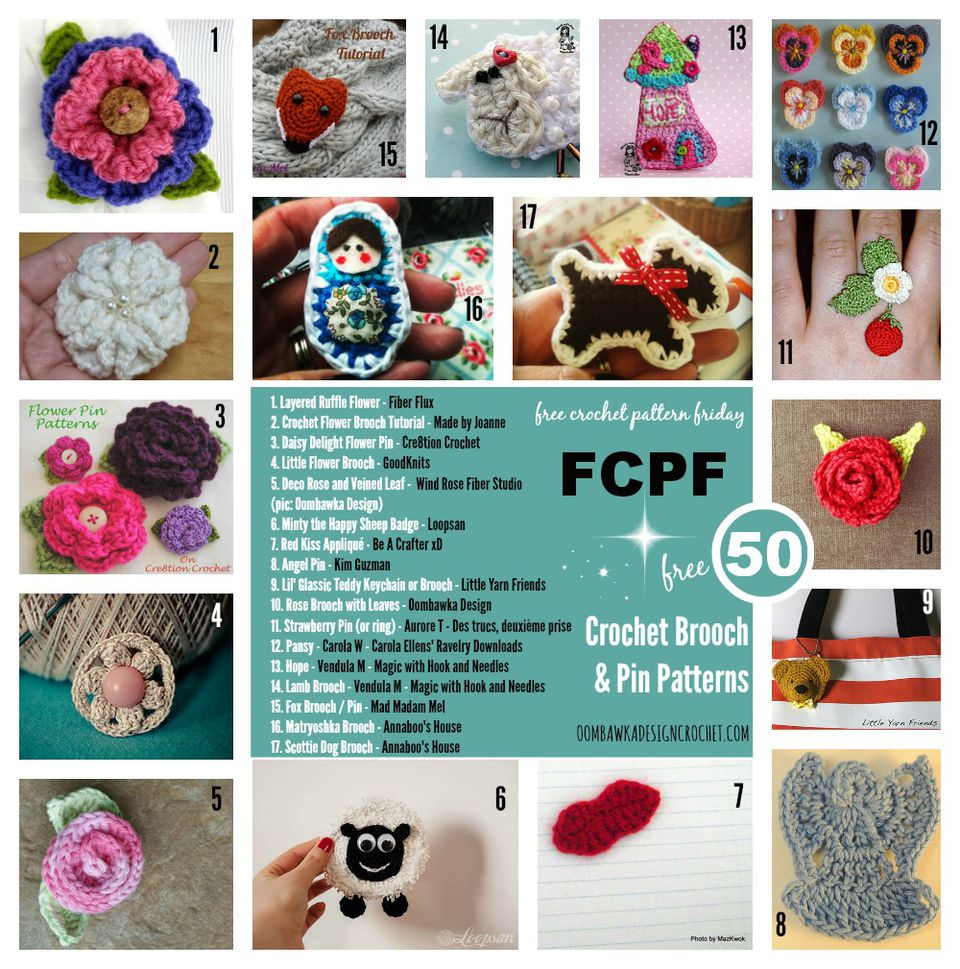 Crochet Brooch Patterns