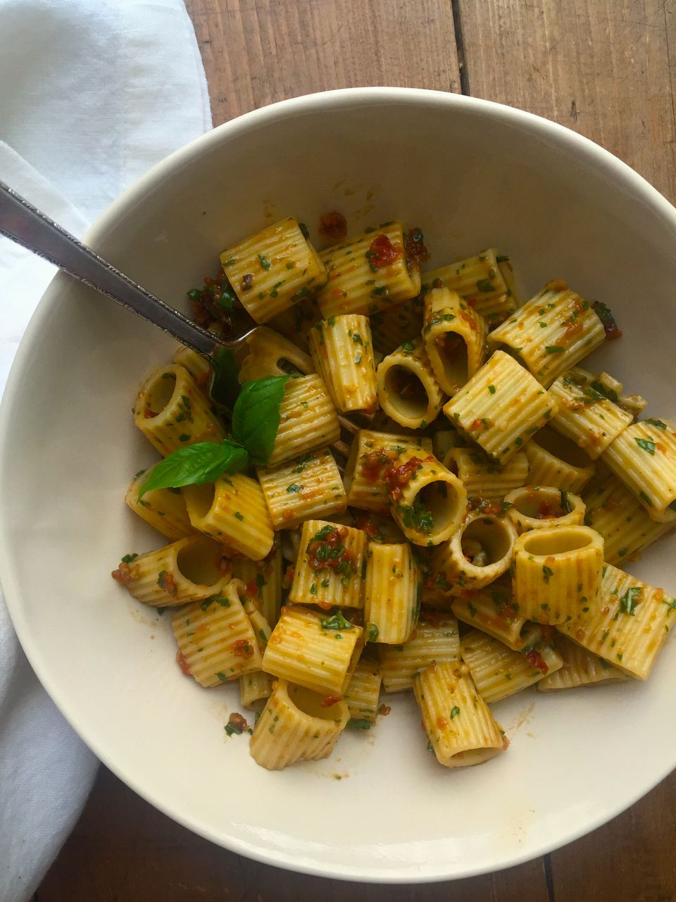 Pasta with Sundried Tomato Pesto