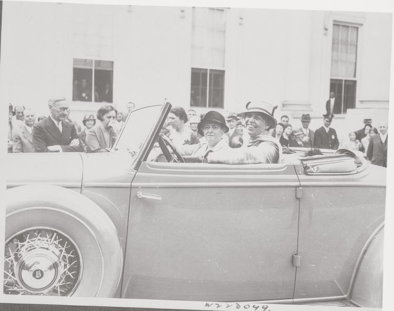 Eleanor Roosevelt Driving with Nancy Cook
