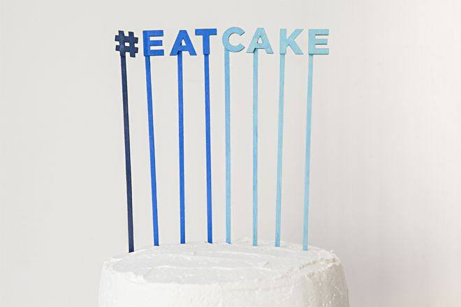 DIY Hashtag Cake Topper