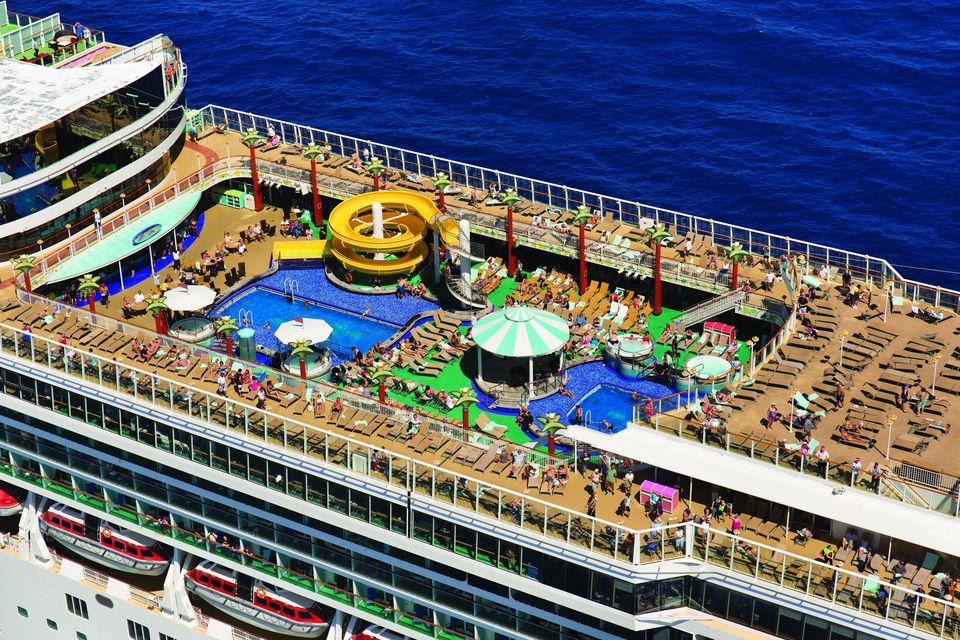 Norwegian Gem Cruise Ship Outdoor Decks And Pool Areas