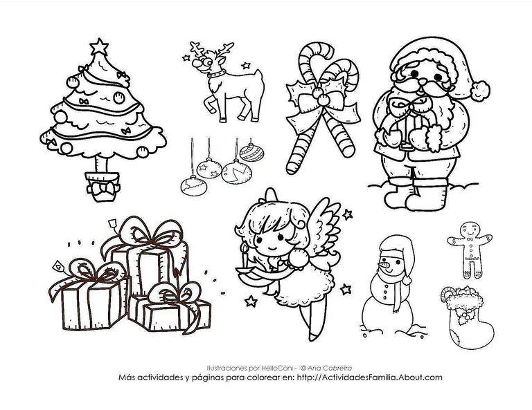 Dibujos de navidad para colorear - Laminas de navidad para colorear ...