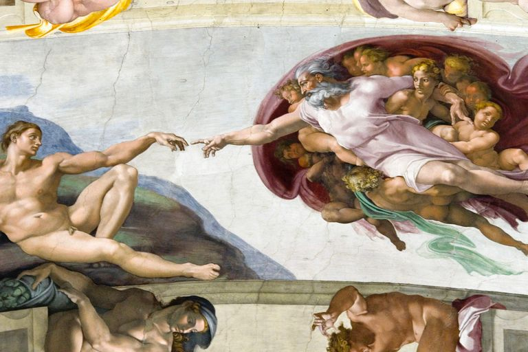 The Creation of Adam by Michelangelo, Sistine Chapel