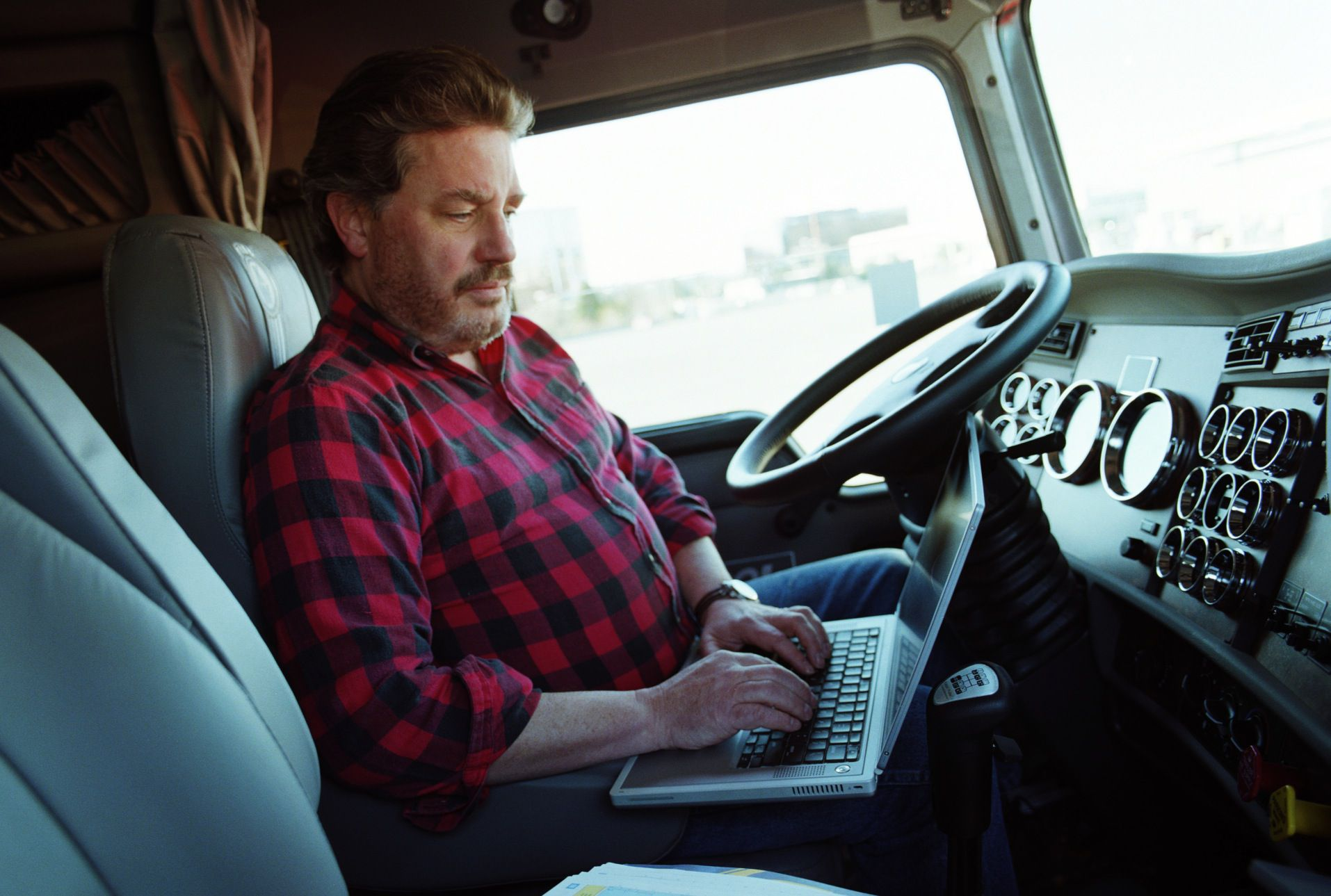 Follow a typical day for a truck driver