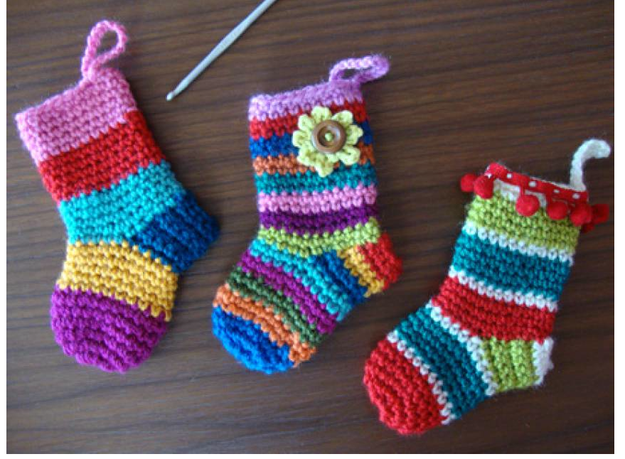 Mini Crochet Christmas Stockings
