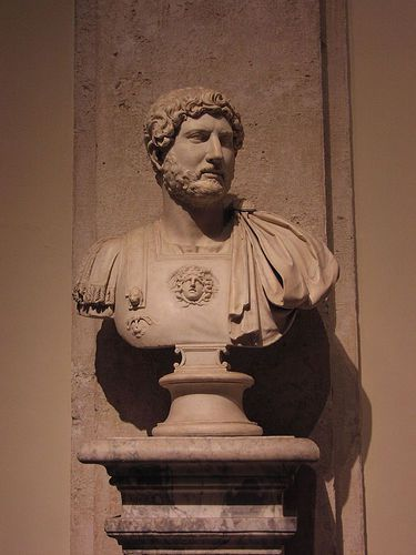 The Emperor Hadrian in the Capitol Museum in Rome