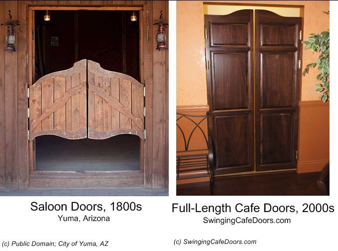 Saloon Doors vs. Modern Cafe Doors
