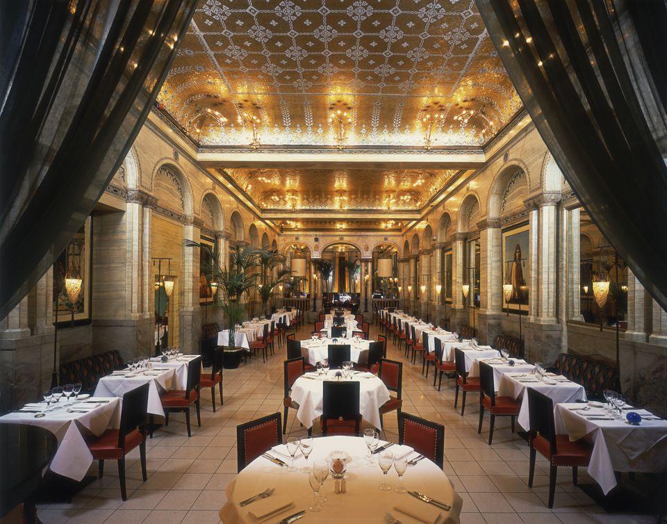 Interior of the Criterion restaurant, London