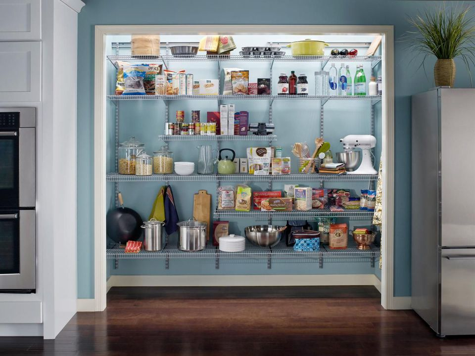 Pantry Ideas To Help You Organize Your Kitchen - Wire shelving for kitchen