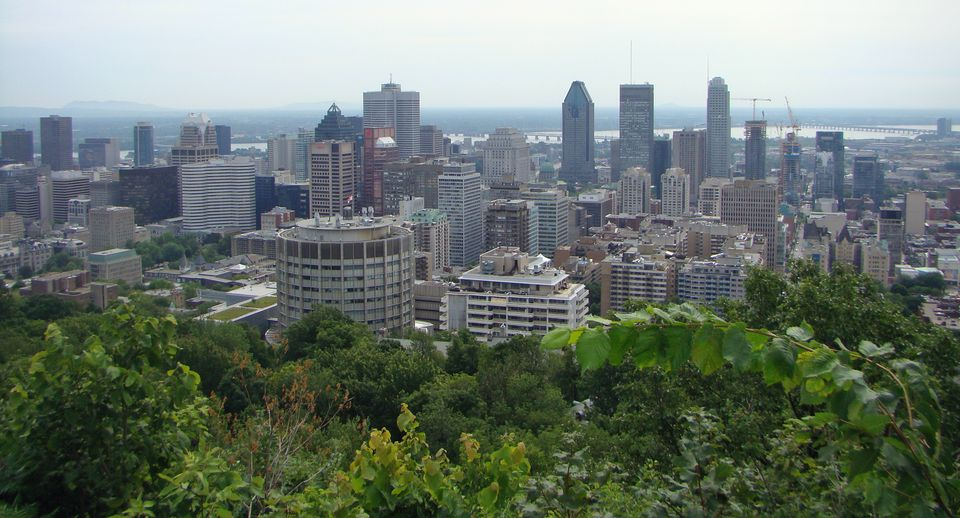 Central Montreal skyline, as seen from overlook at Mount Royal
