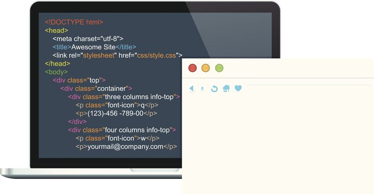 view source code of a web page