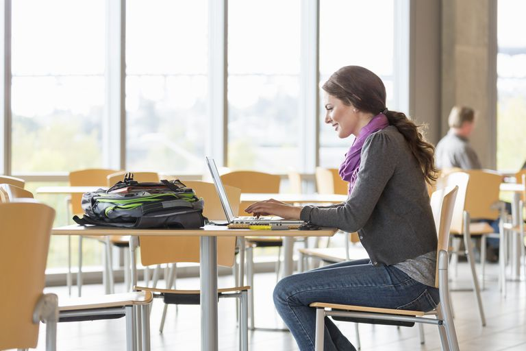 Student writing an APA format essay