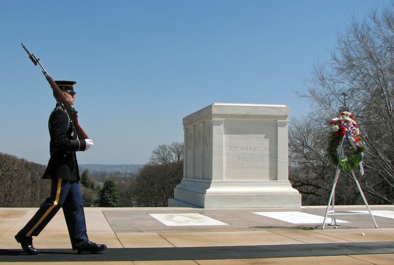 Soldier and Arlington Tomb of Unknowns