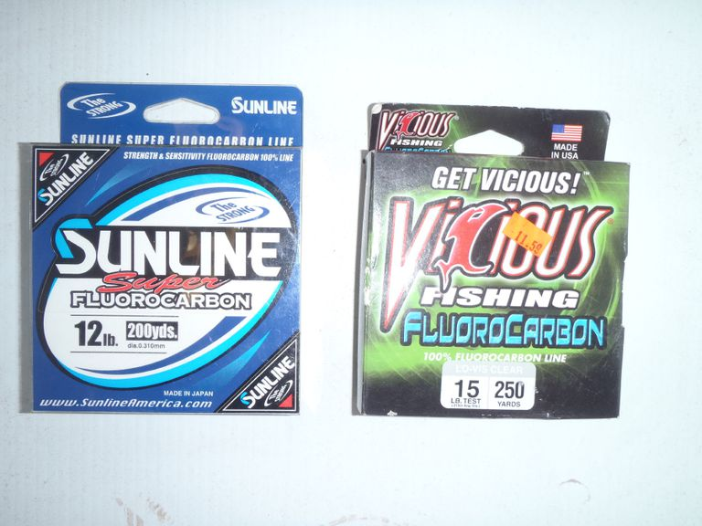 Two Spools of Fluorocarbon Fishing Line