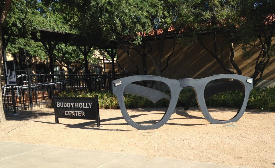 Giant Glasses at the Buddy Holly Center, Lubbock, Texas