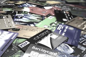 Assorted credit cards