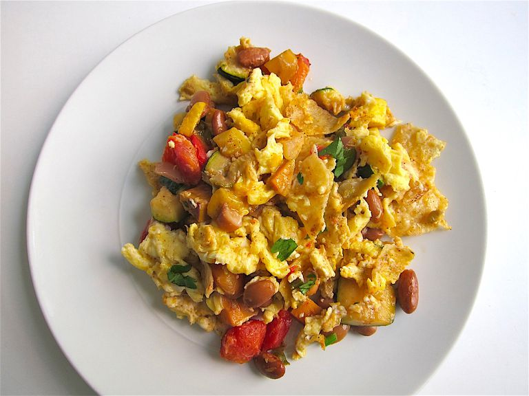 Tex Mex Veggie Migas Recipe