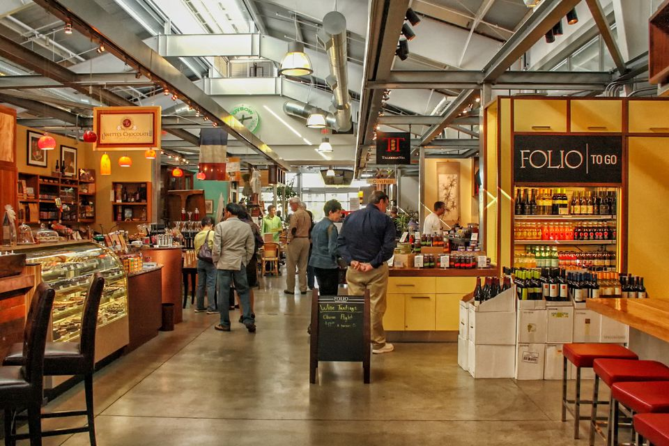 Browsing at the Oxbow Public Market
