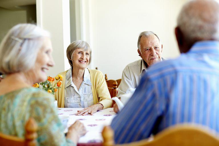Elderly at the nursing home