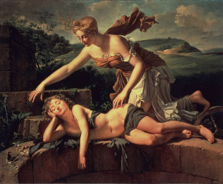 Child and Fortuna. Artist: Bouillon, Pierre (1776-1831)