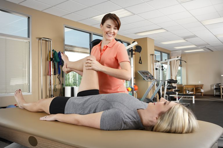You may encounter a physical therapist after your total hip replacement.