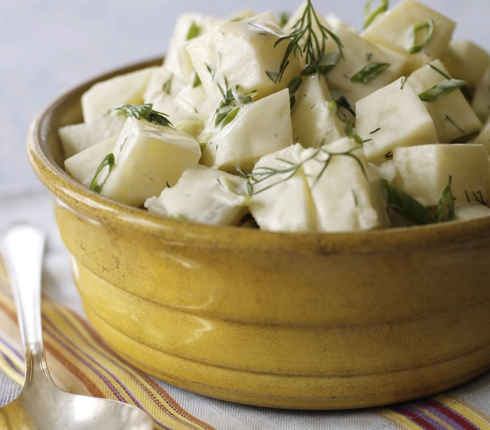 Light potato salad with fresh dill