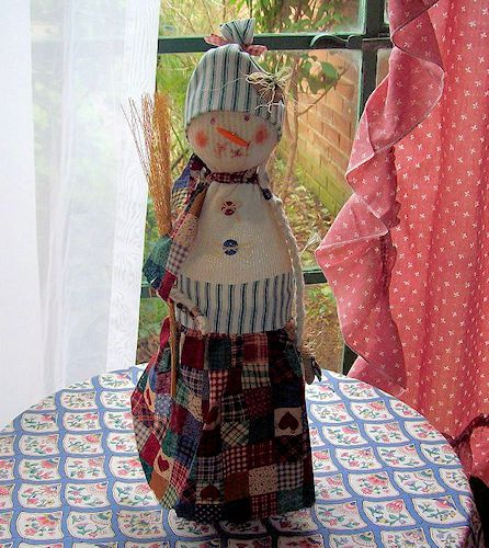 Bottle and Sock Snow Woman Craft