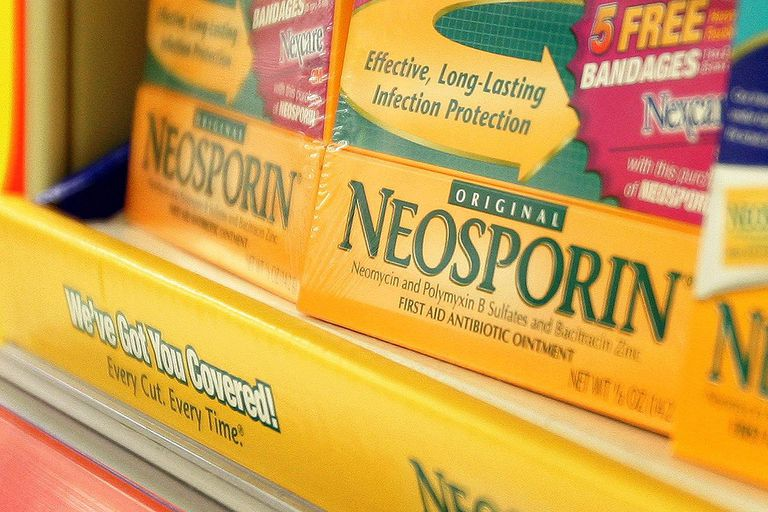 CHICAGO - JUNE 26: Pfizer's Neosporin is displayed on a shelf at a Walgreens store June 26, 2006 in Chicago, Illinois.