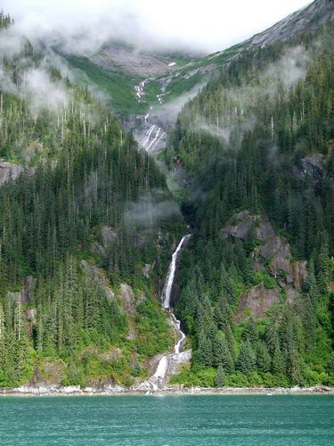 Tracy Arm Waterfall in Alaska