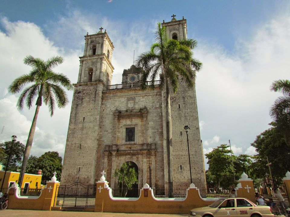 The church in Valladolid, Yucatan