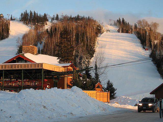 Ski slopes in Lutsen Mountains, Minnesota