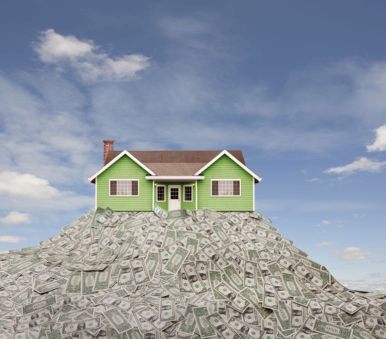 house on heap of money